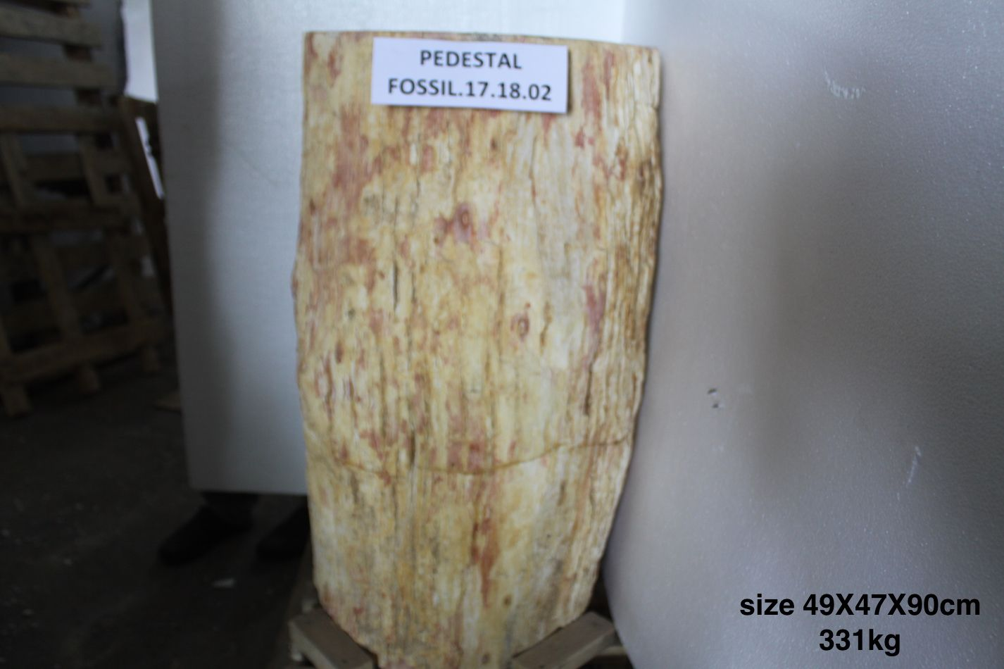 Petrified Wood Free Standing Pedestal Stone Sink Approx 49